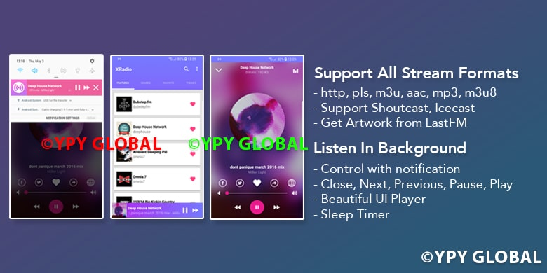XRadio - Best Radio Template For Android - 6