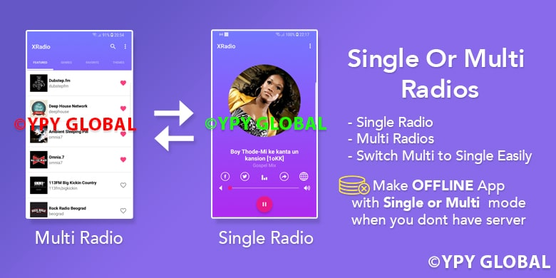 XRadio - Best Radio Template For Android - 4